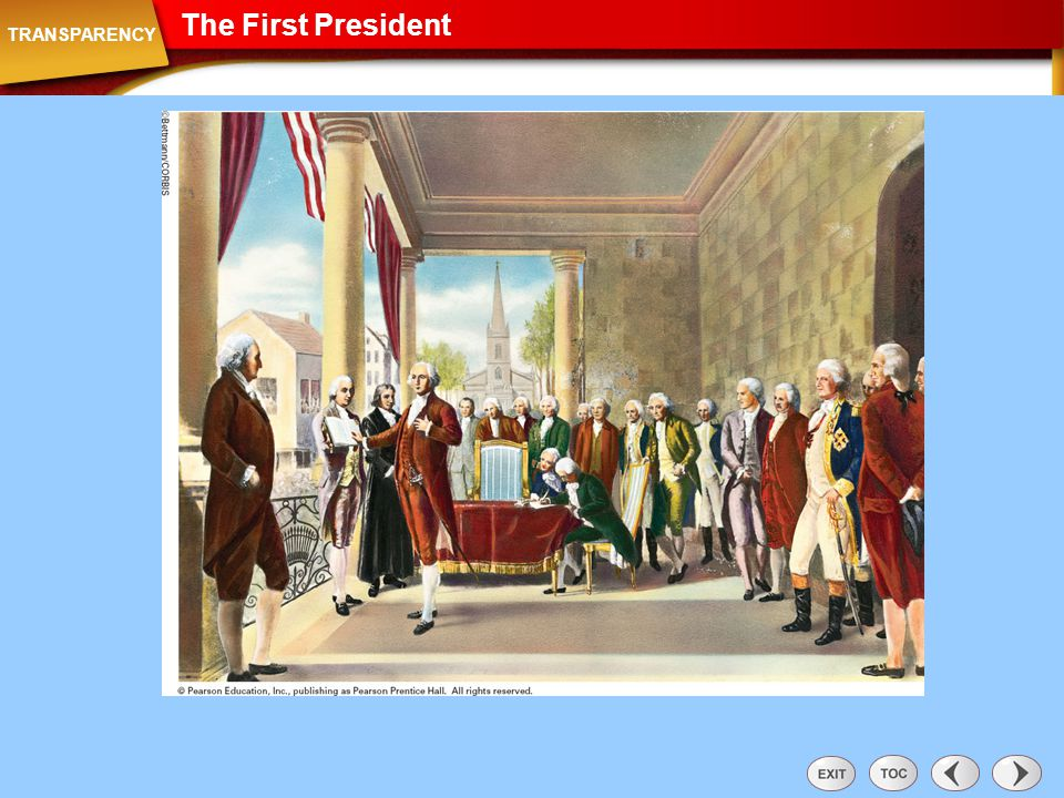 Transparency: The First President