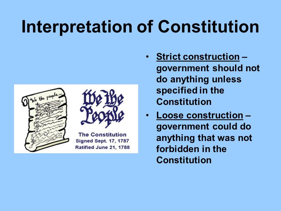 Interpretation of Constitution