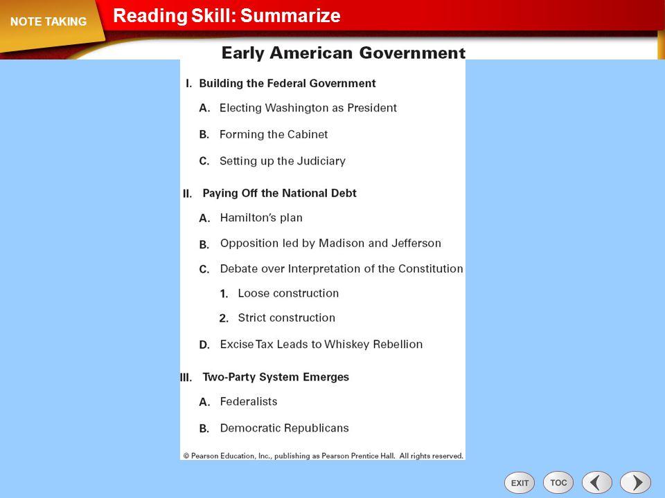 Note Taking: Reading Skill: Summarize