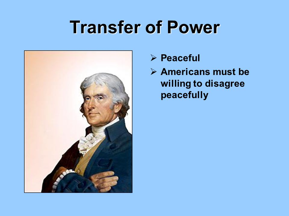 Transfer of Power Peaceful