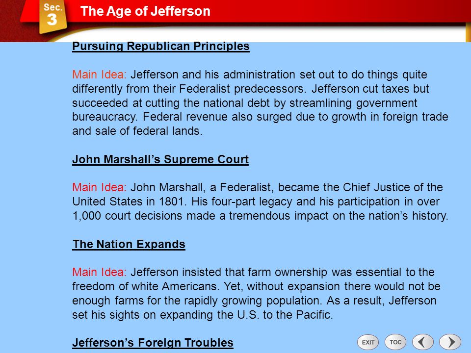 Sec 3: The Age of Jefferson
