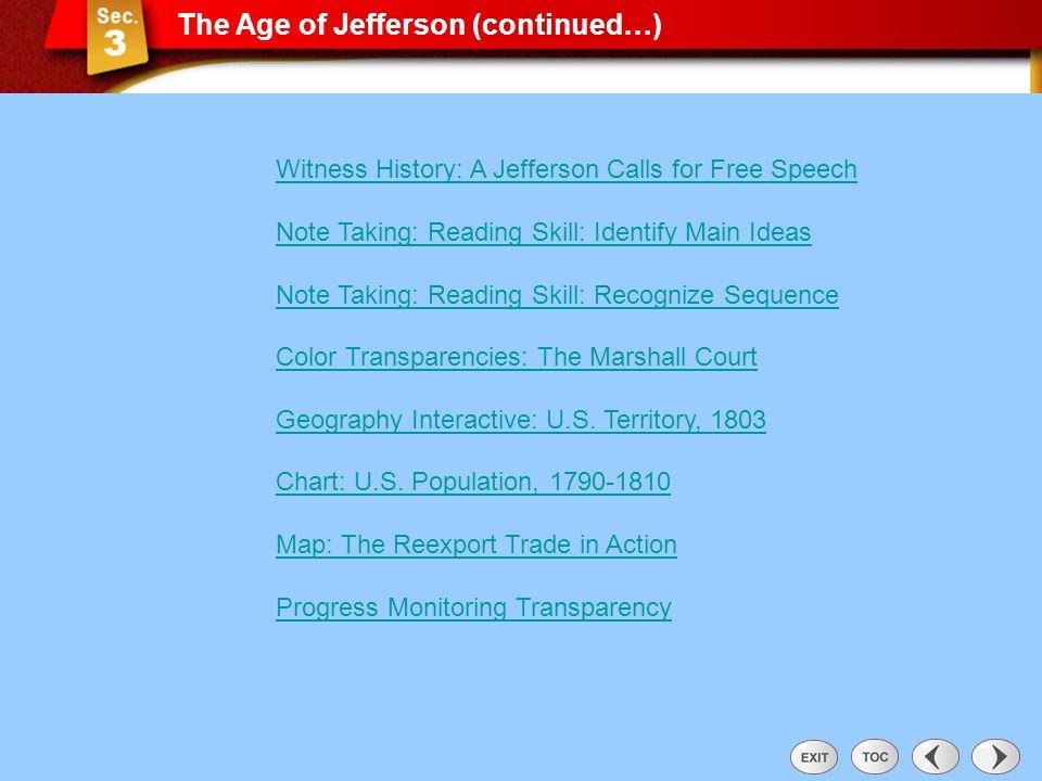 Sec 3: The Age of Jefferson (con't)