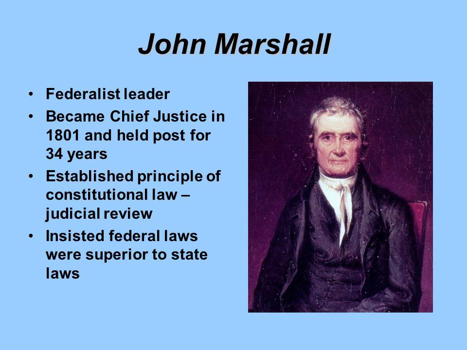 John Marshall Federalist leader