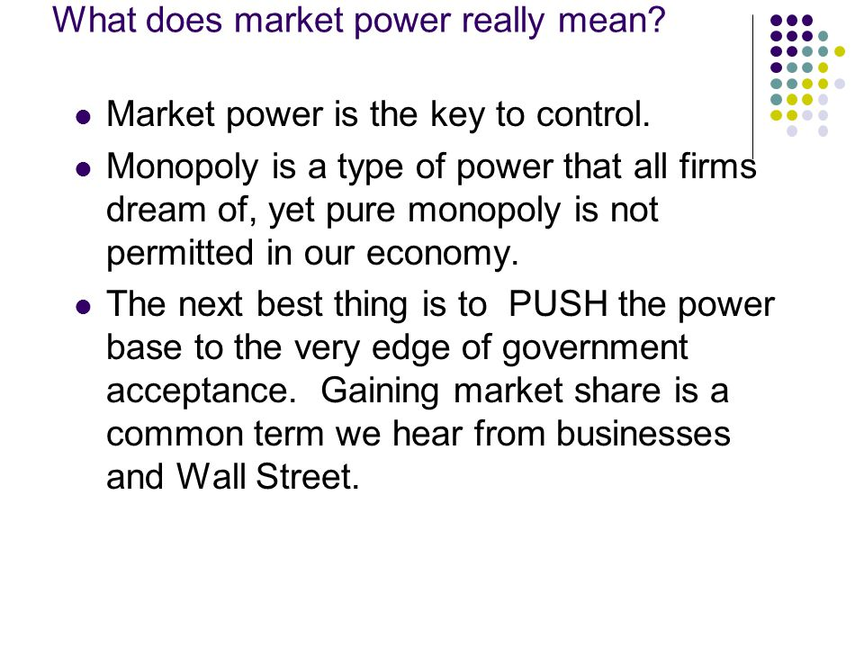 What does market power really mean