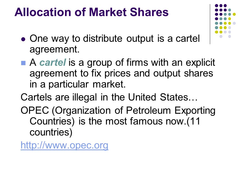 Allocation of Market Shares