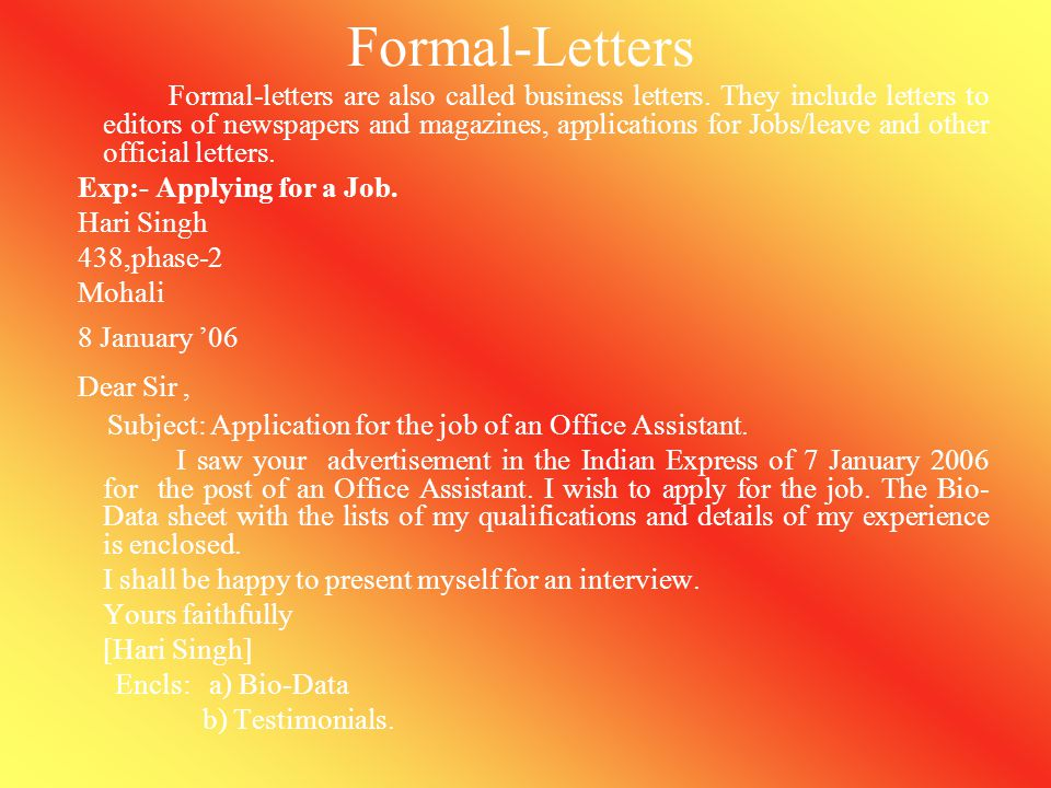 Formal-Letters