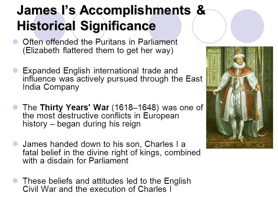 James I's Accomplishments & Historical Significance
