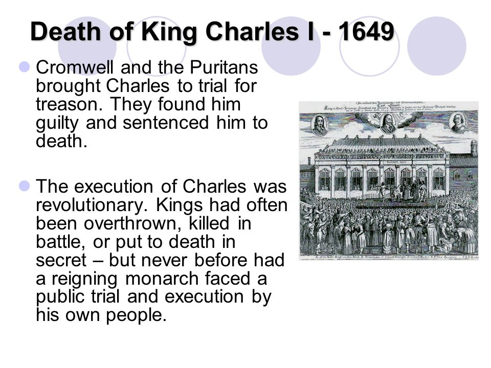 Death of King Charles I - 1649