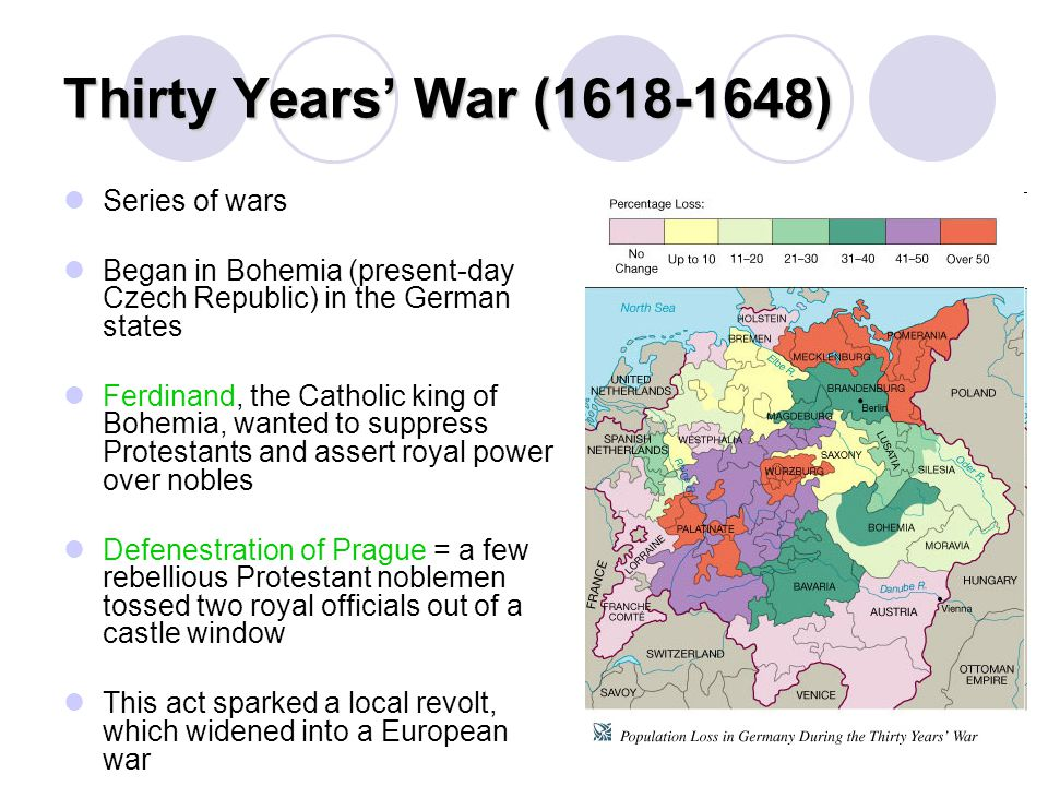 Thirty Years' War (1618-1648) Series of wars