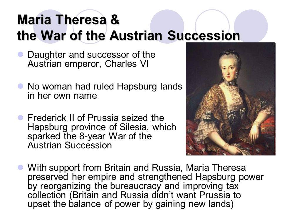 Maria Theresa & the War of the Austrian Succession