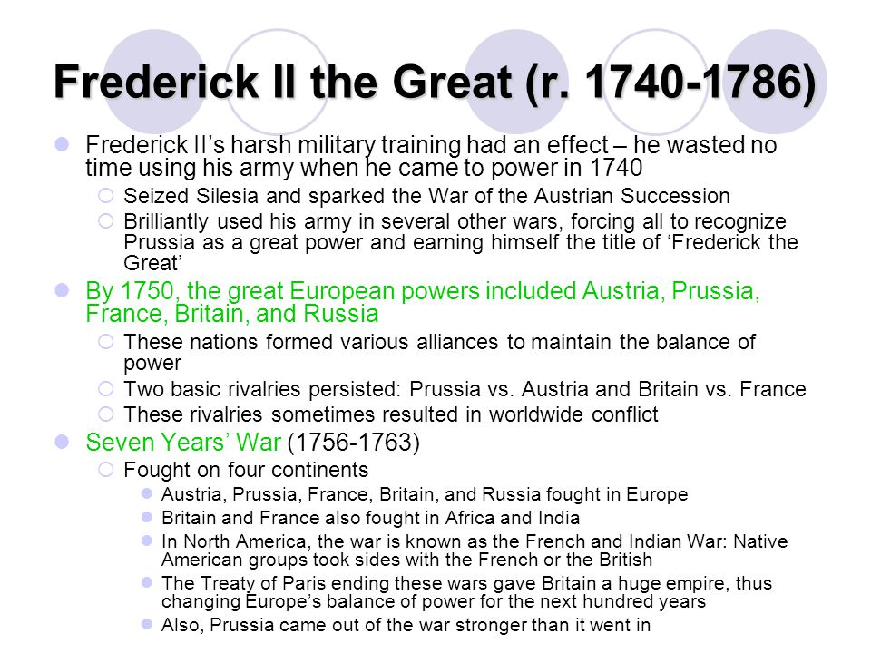 Frederick II the Great (r. 1740-1786)