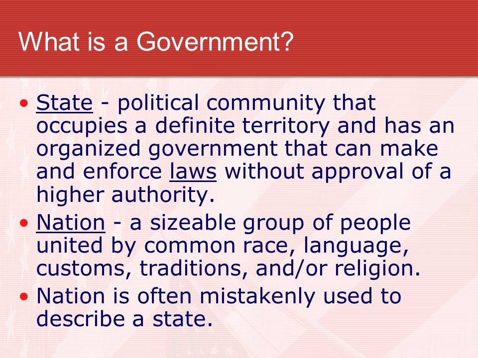 What is a Government