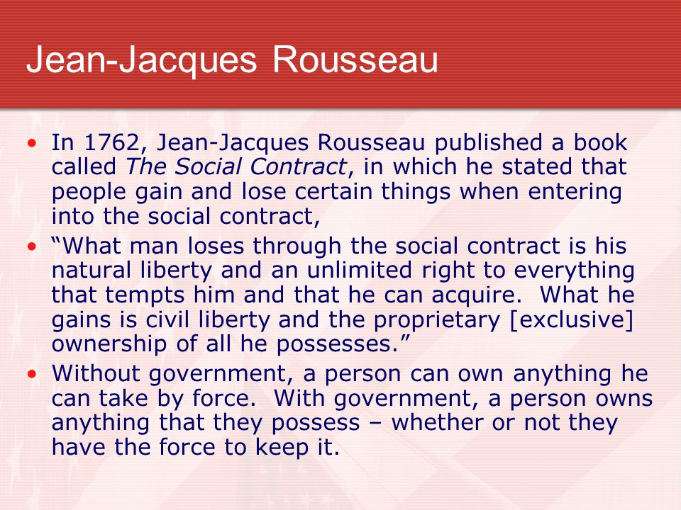 jean jacques rousseau and declaration of independence Jean-jacques rousseau - thinglink view the interactive image by sierra sign up.