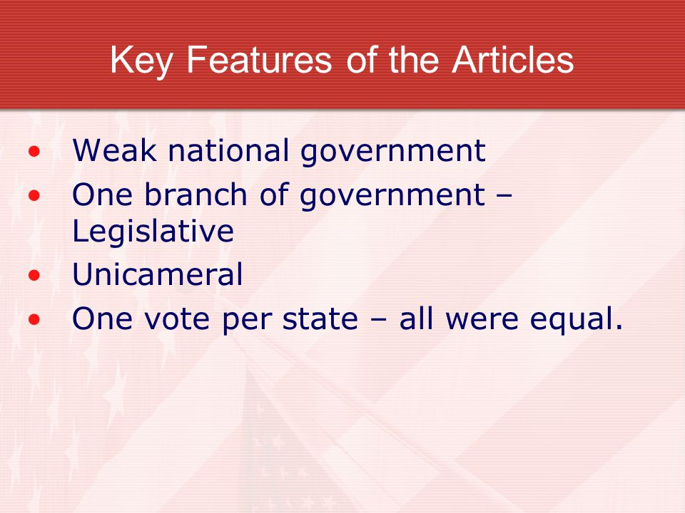 Key Features of the Articles