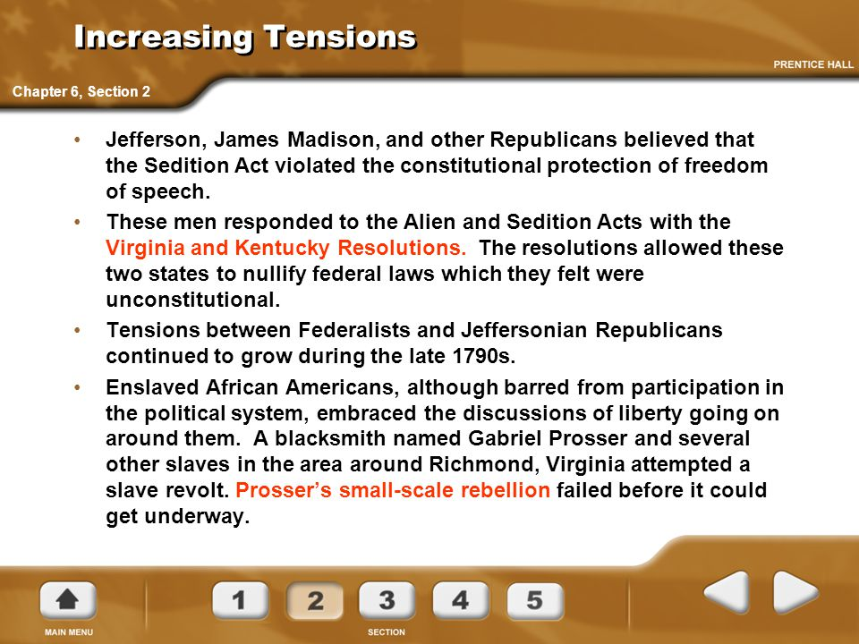 Increasing Tensions Chapter 6, Section 2.