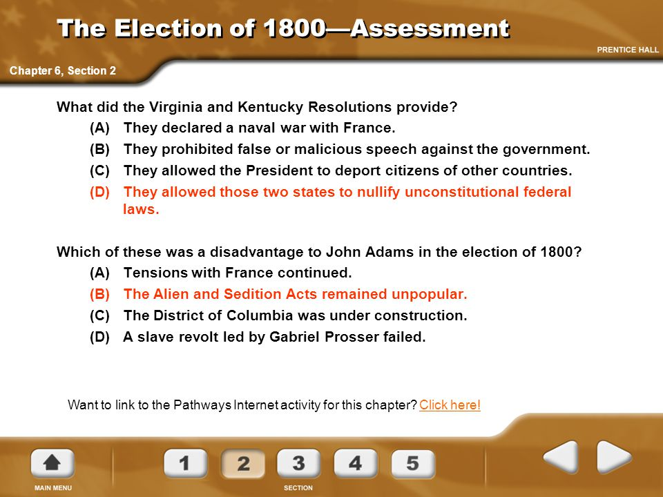 The Election of 1800—Assessment