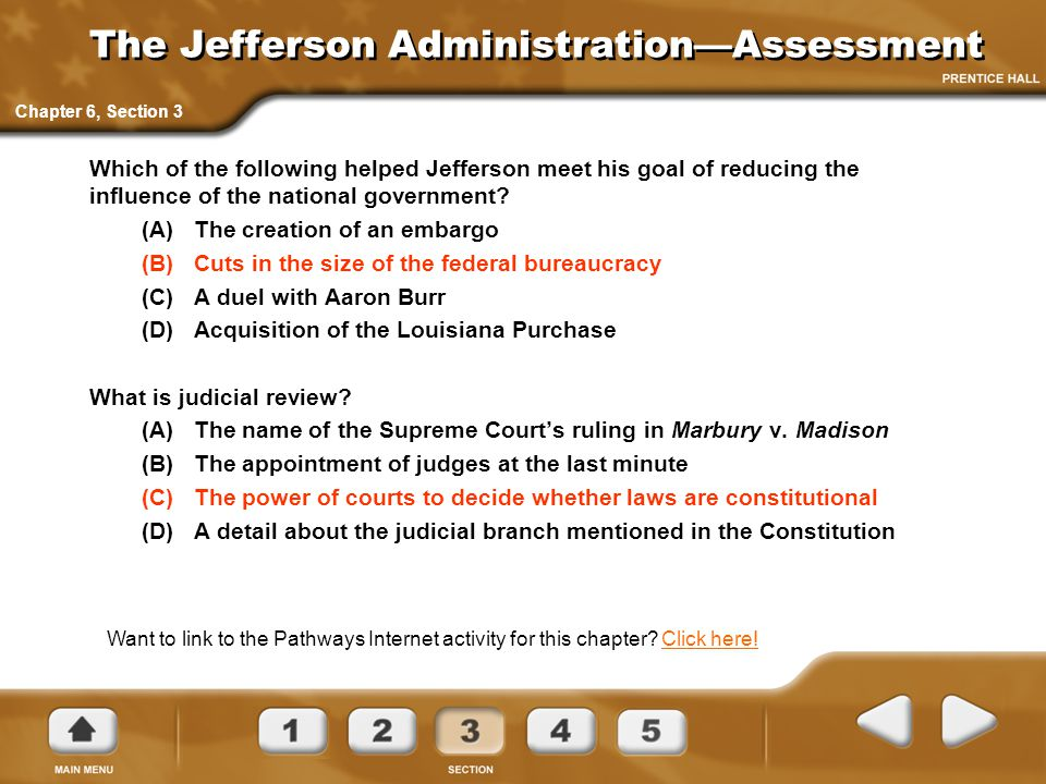 The Jefferson Administration—Assessment