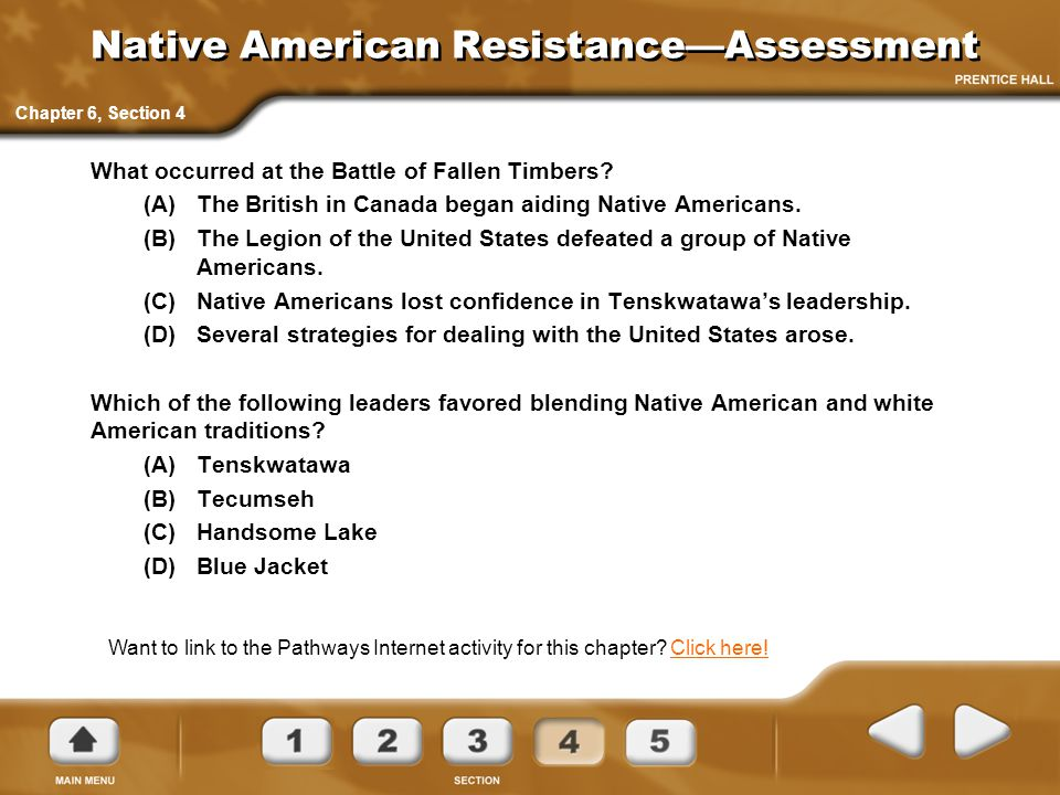 Native American Resistance—Assessment