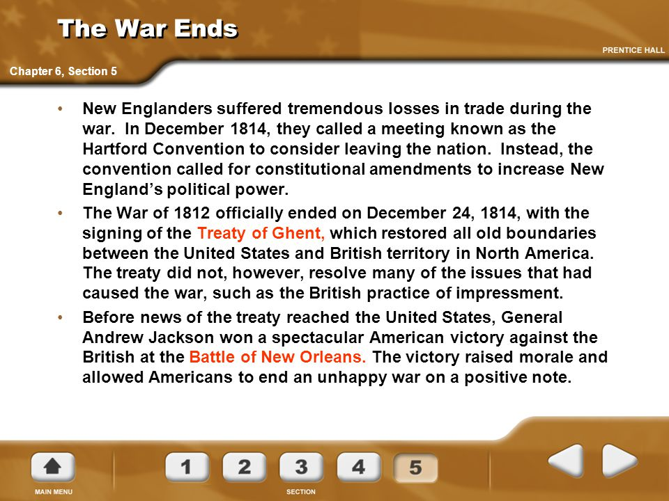The War Ends Chapter 6, Section 5.