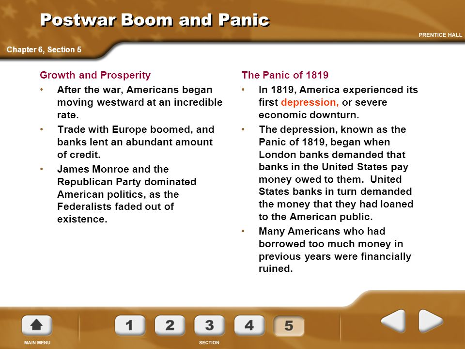 Postwar Boom and Panic Growth and Prosperity