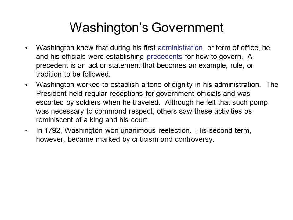 Washington's Government