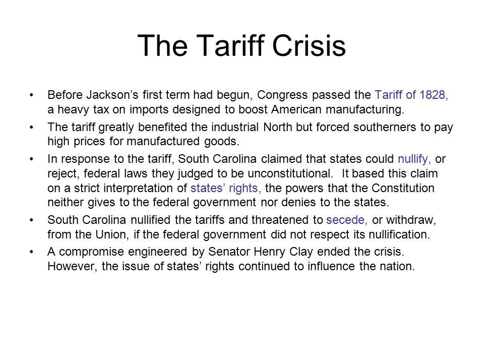 The Tariff Crisis