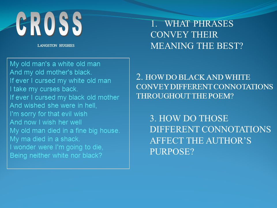 CROSS WHAT PHRASES CONVEY THEIR MEANING THE BEST