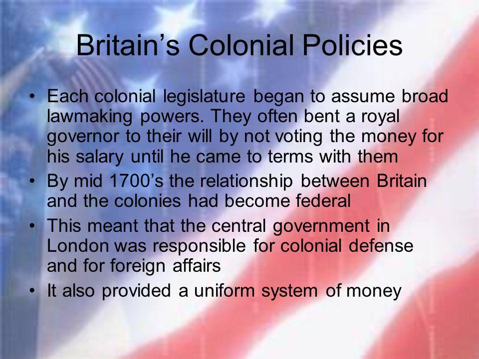 Britain's Colonial Policies