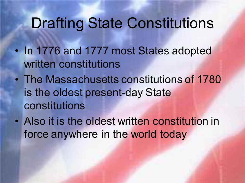 Drafting State Constitutions