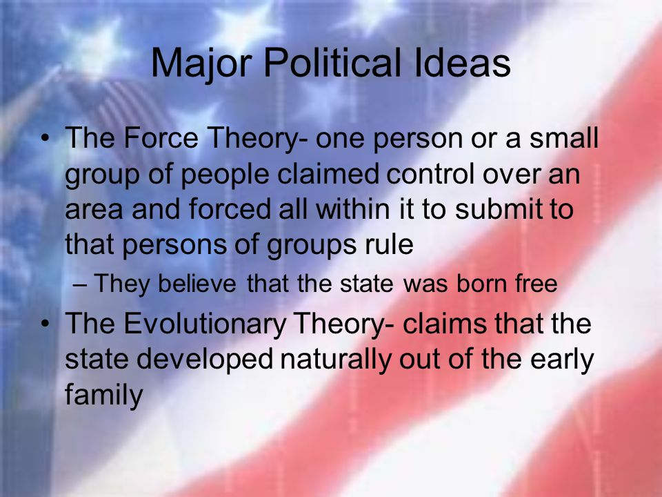Major Political Ideas