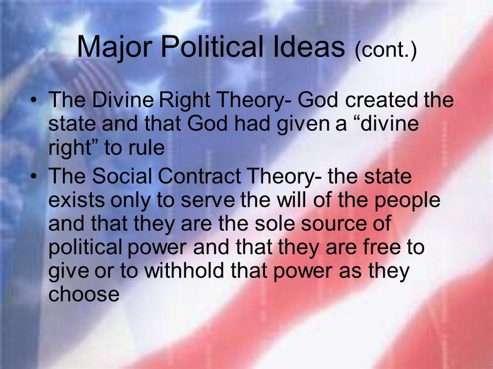 Major Political Ideas (cont.)