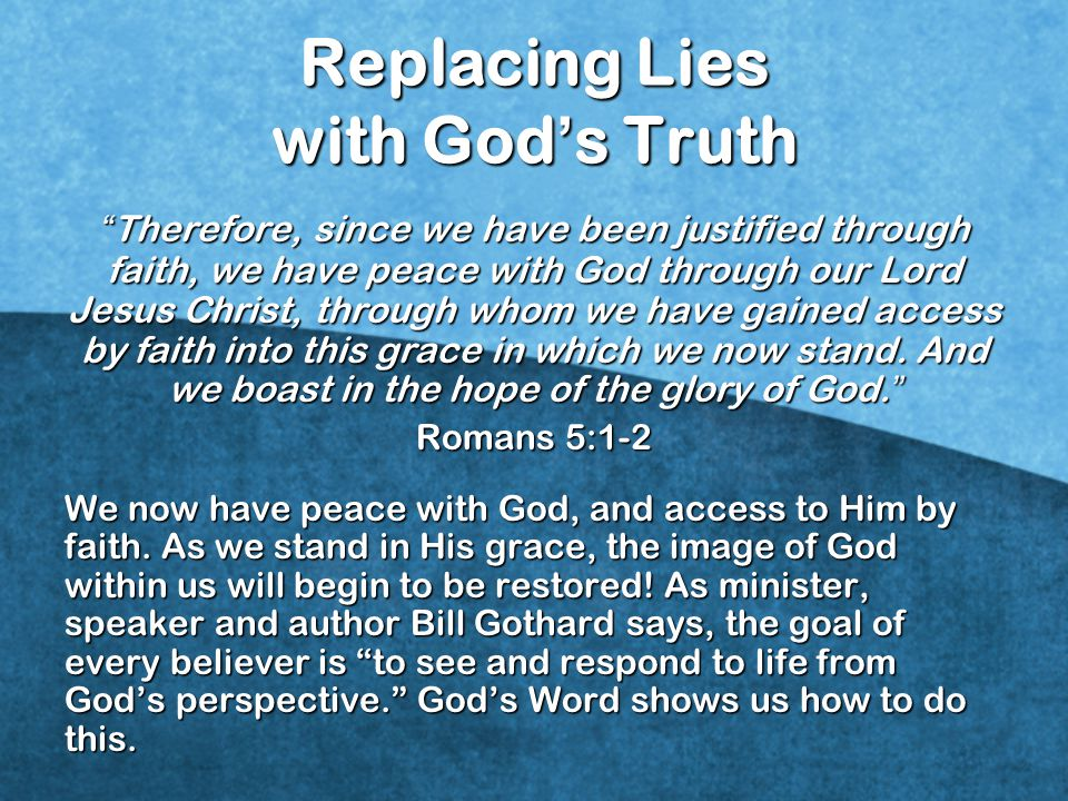 Replacing Lies with God's Truth