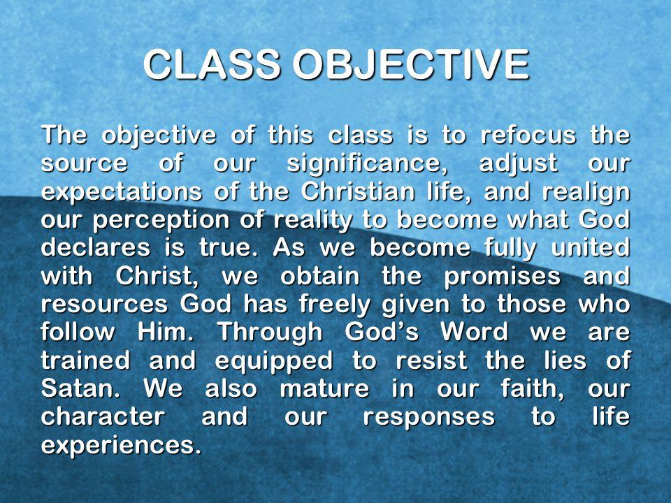 CLASS OBJECTIVE
