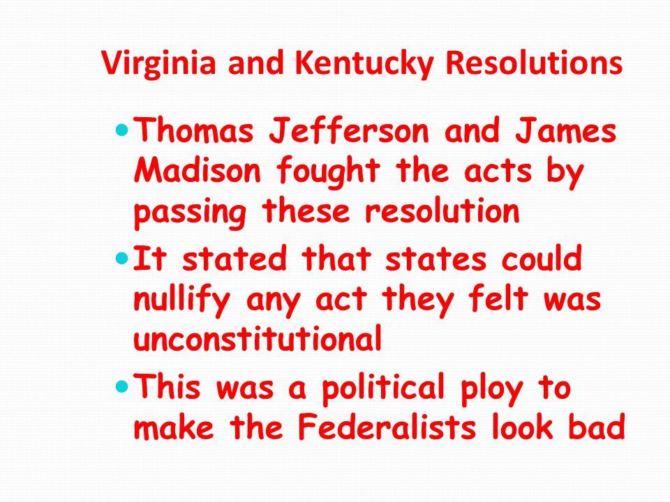 Virginia and Kentucky Resolutions