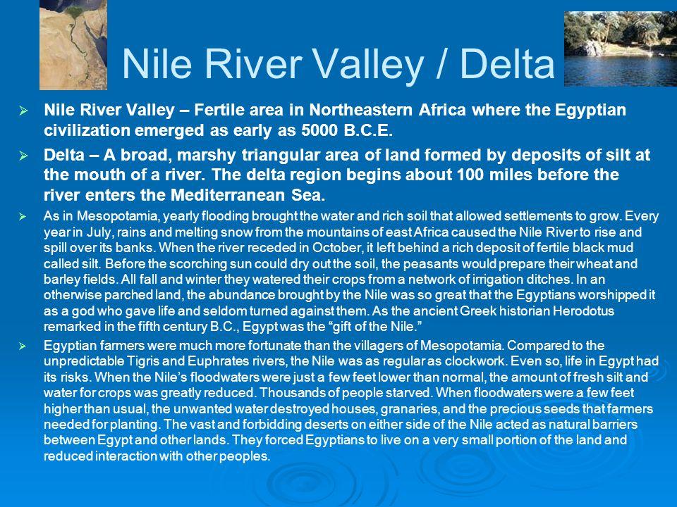 Nile River Valley / Delta