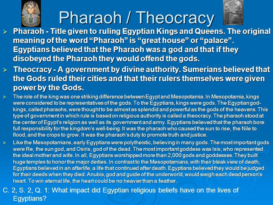Pharaoh / Theocracy