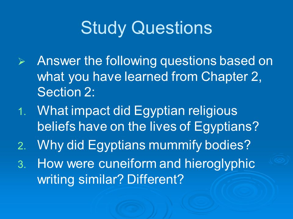 Study Questions Answer the following questions based on what you have learned from Chapter 2, Section 2: