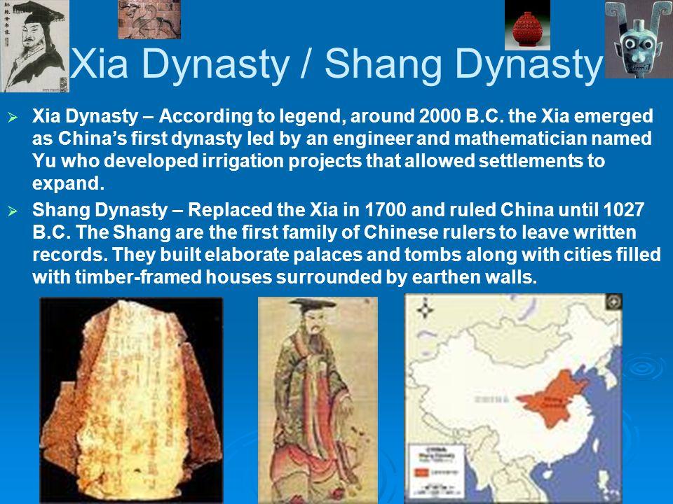Xia Dynasty / Shang Dynasty