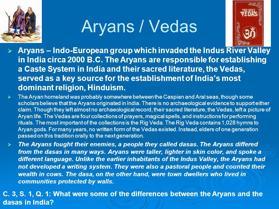 Aryans / Vedas