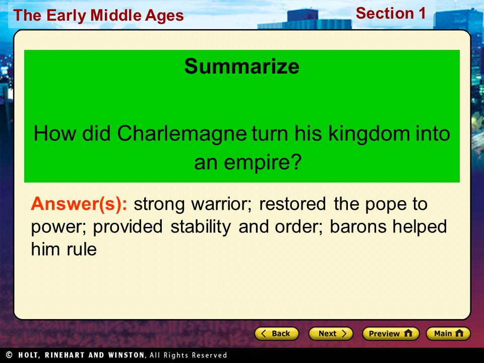 How did Charlemagne turn his kingdom into an empire