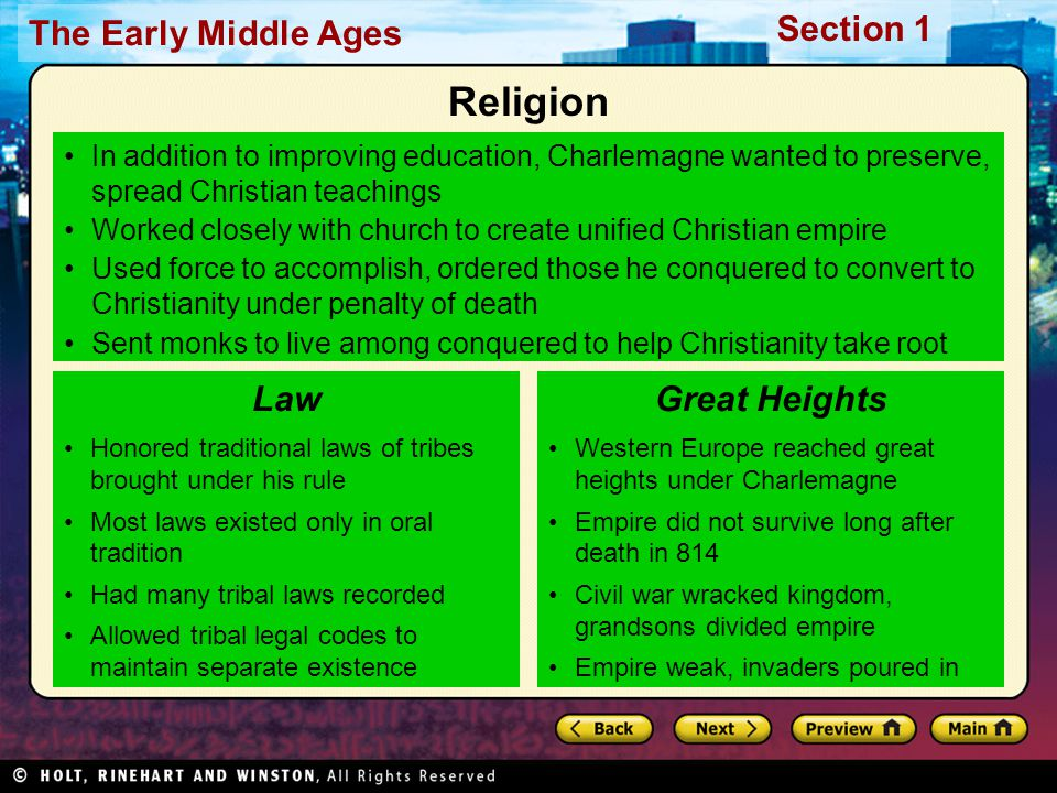 Religion Law Great Heights