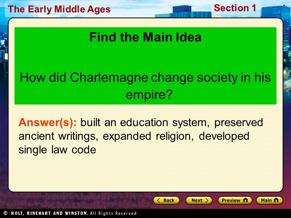 How did Charlemagne change society in his empire