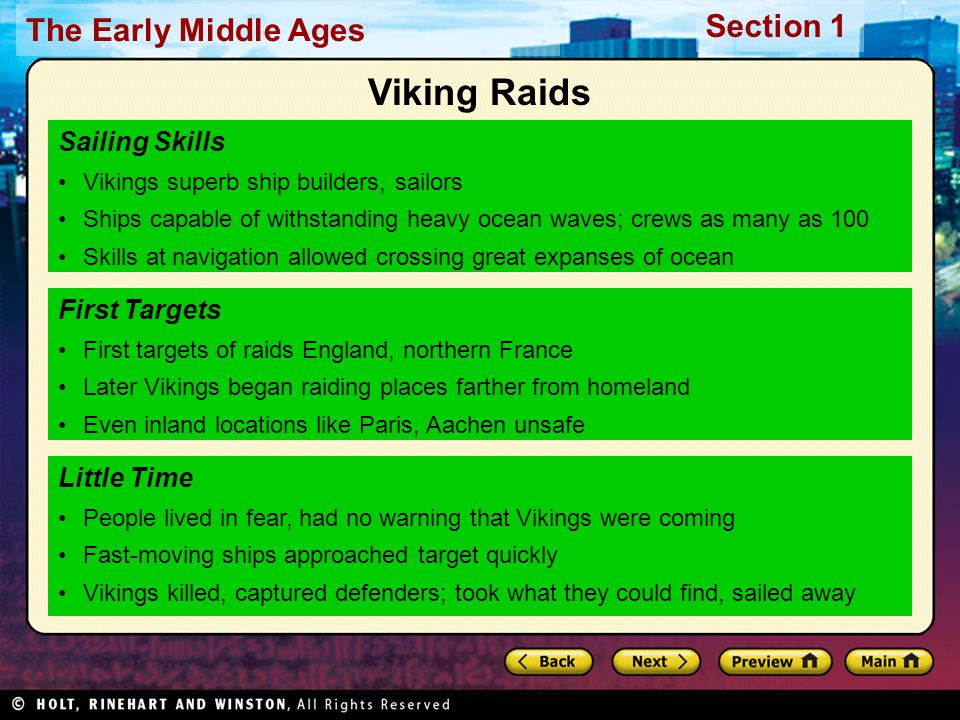 Viking Raids Sailing Skills First Targets Little Time