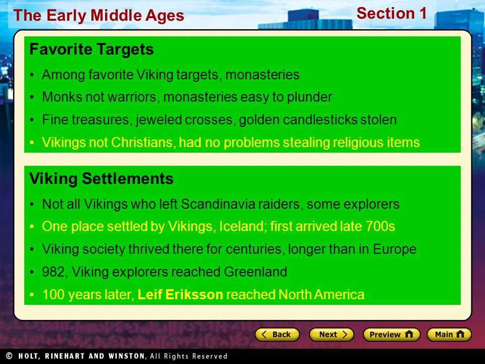 Favorite Targets Viking Settlements