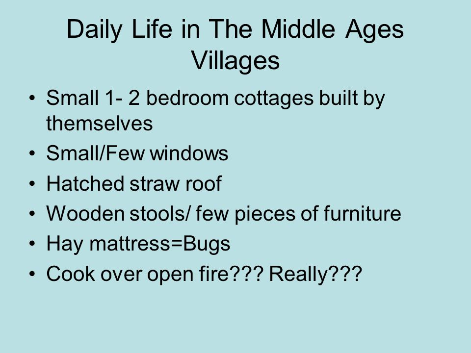 Daily Life in The Middle Ages Villages