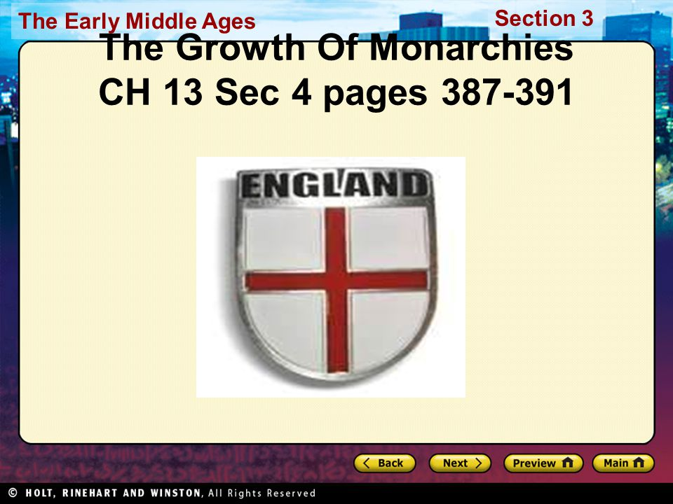 The Growth Of Monarchies CH 13 Sec 4 pages 387-391