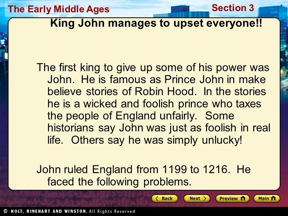 King John manages to upset everyone!!