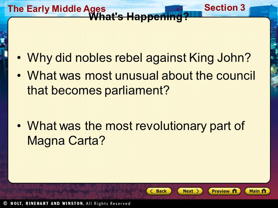 Why did nobles rebel against King John