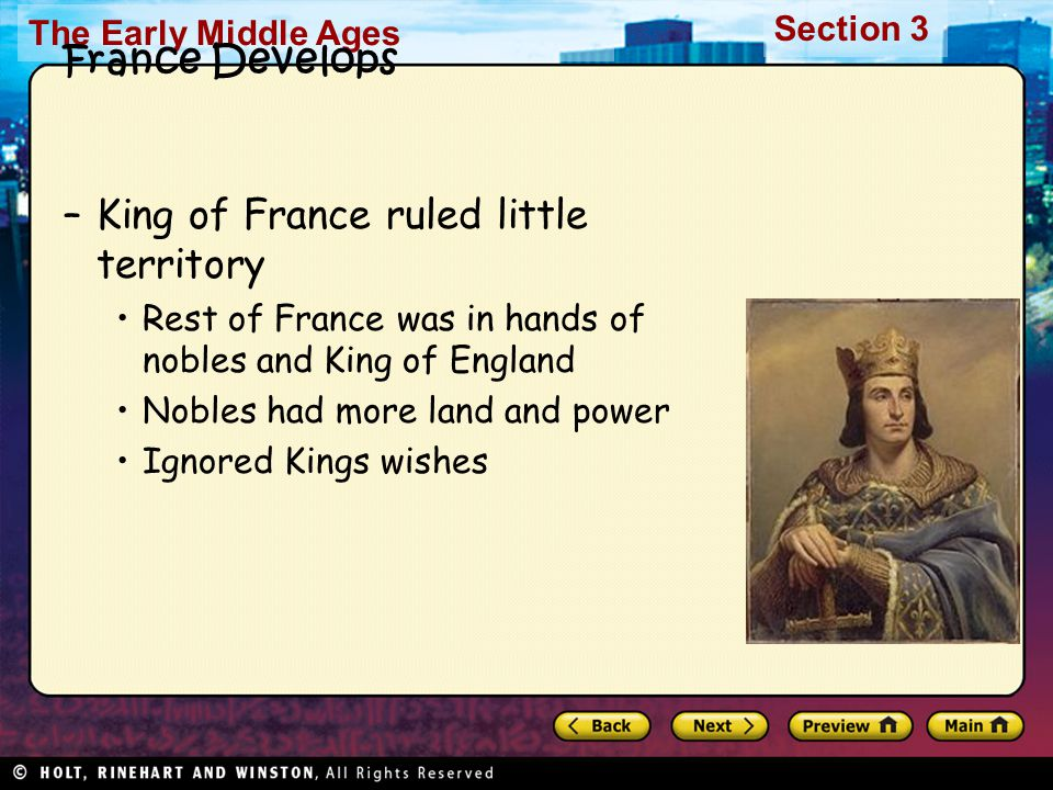 King of France ruled little territory