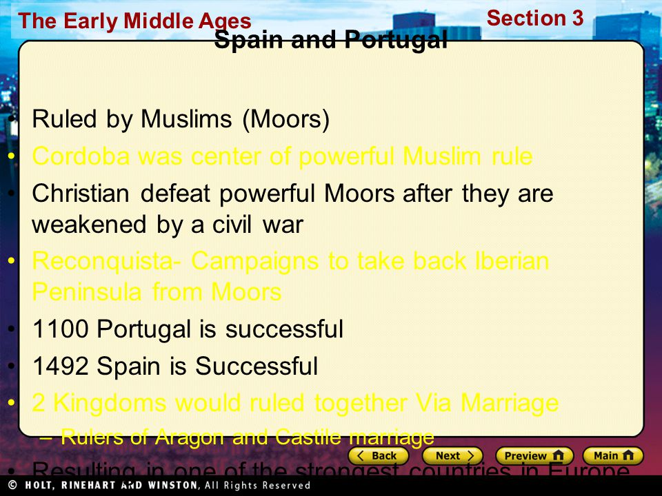 Ruled by Muslims (Moors) Cordoba was center of powerful Muslim rule